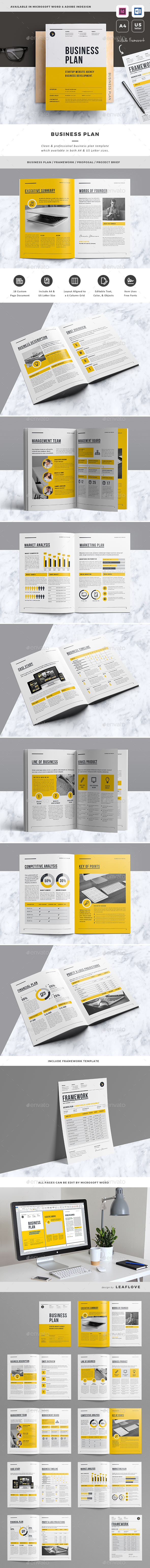 Business Plan InDesign Graphics Designs Templates - Business plan template indesign