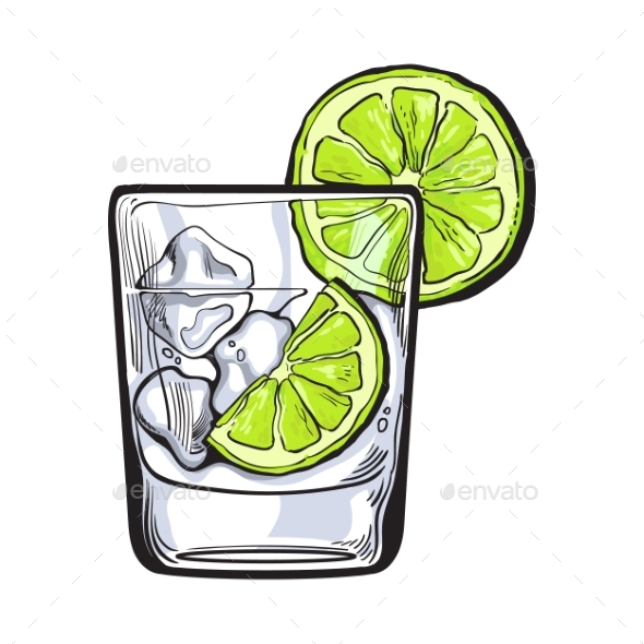 Glass of Gin - Decorative Symbols Decorative