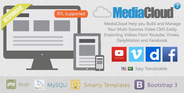 mediacloud video aggregator cms by xmush codecanyon