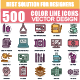 Set of Color Line Icons - GraphicRiver Item for Sale