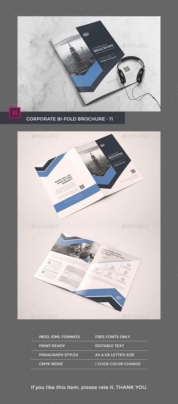 Bifold Brochure #11 - Brochures Print Templates