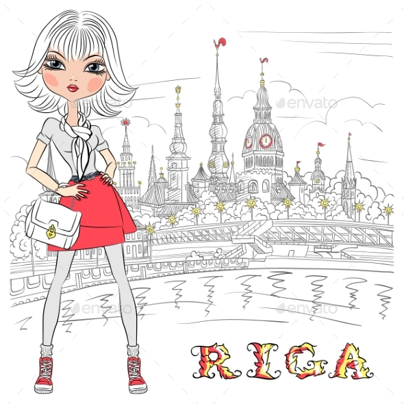 Girl in Riga Latvia - People Characters