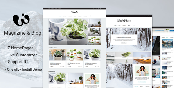 Wide - Magazine & Blog WordPress Themes