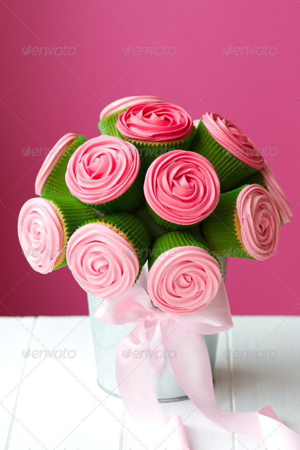 Cupcake bouquet - Stock Photo - Images