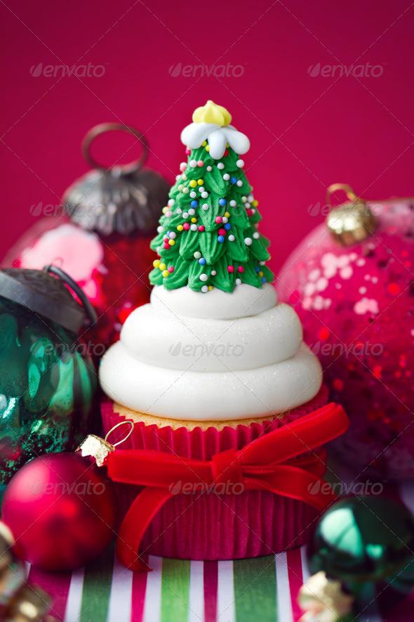 Christmas cupcake - Stock Photo - Images