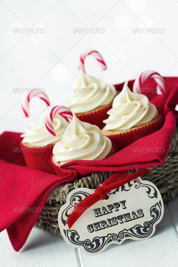 Christmas cupcakes - Stock Photo - Images