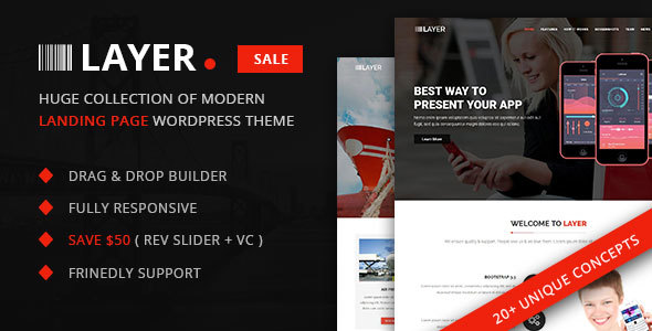 Layer -  Huge Collection of Landing Pages - Corporate WordPress