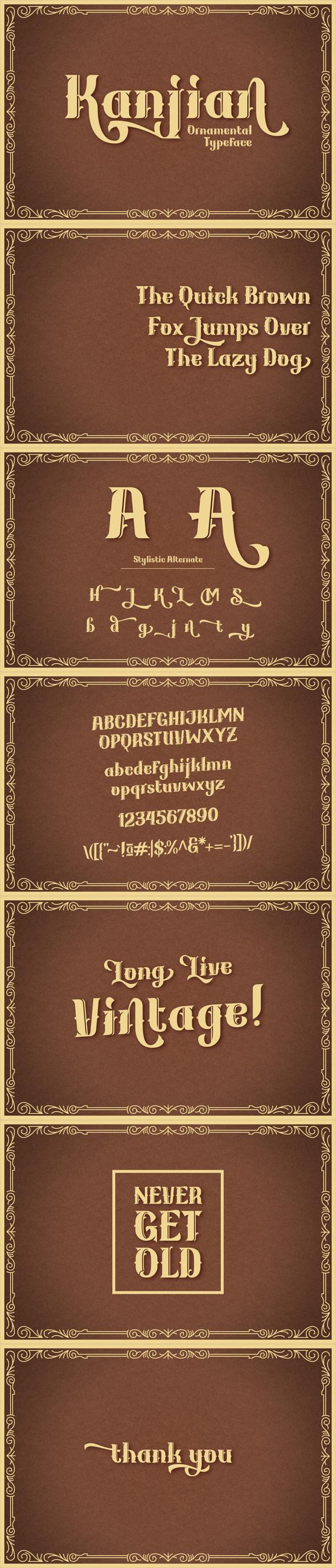 Kanjian Typeface - Foreign Script