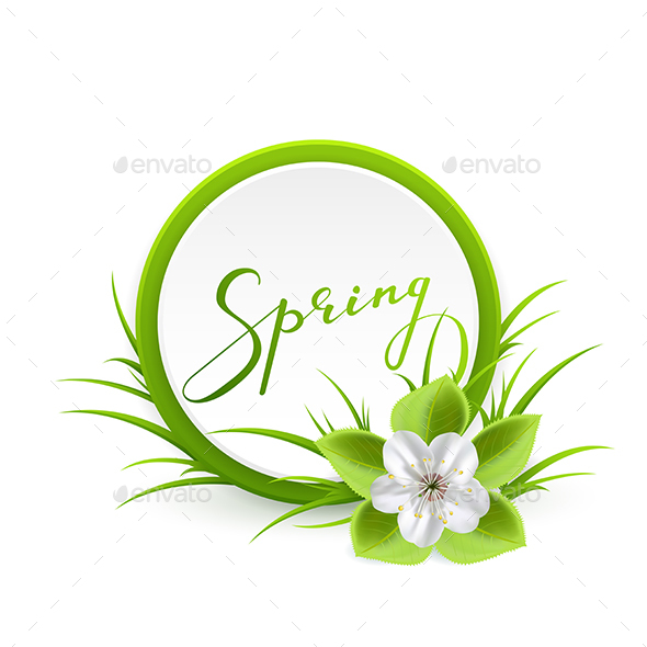 Spring Card with Flower - Seasons Nature
