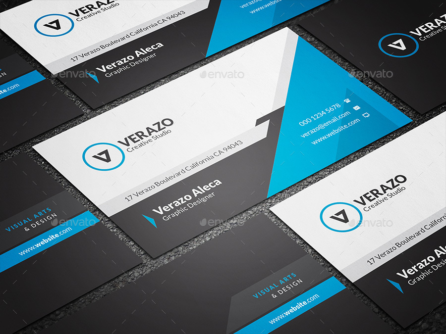 Modern blue corporate business card template by verazo graphicriver template corporate business cards 01 previewsetg 02 previewsetg cheaphphosting Gallery