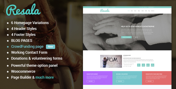 Resala Charity & Crowdfunding WordPress theme