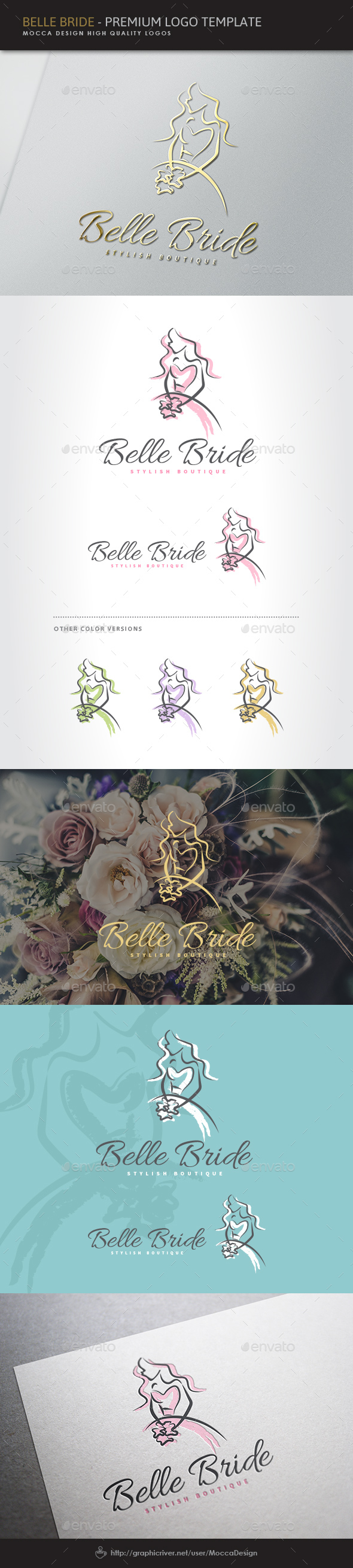Belle Bride Logo - Humans Logo Templates
