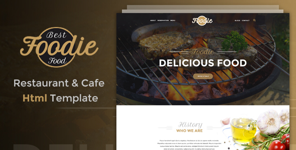 Foodie - Restaurant & Cafe HTML Template - Restaurants & Cafes Entertainment
