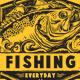 FISHING EVERYDAY GRUNGE T-SHIRT - GraphicRiver Item for Sale