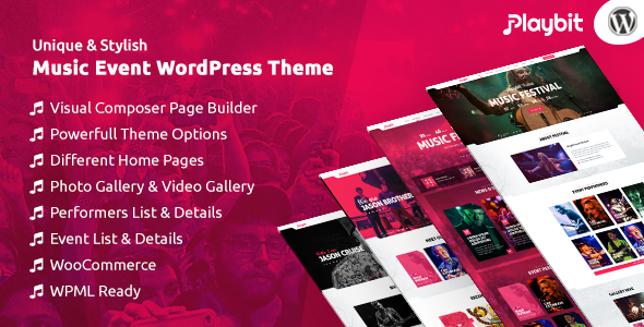 Playbit – Music Oriented WordPress Theme