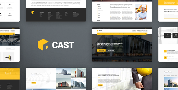 Cast - Construction & Building WordPress Theme - Business Corporate