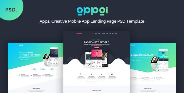 APPAI - Responsive App Landing PSD Template - PSD Templates