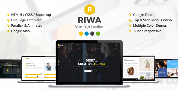 Riwa – One Page Parallax