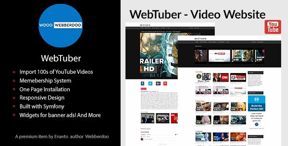 WebTuber - Video Website - CodeCanyon Item for Sale