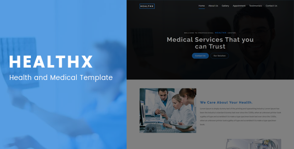 Healthx – Health and Medical Template