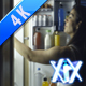 Woman In The Dark At Open Refrigerator - VideoHive Item for Sale