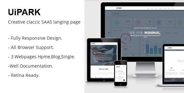 UiPARK SAAS Landing Responsive HTML5 Template