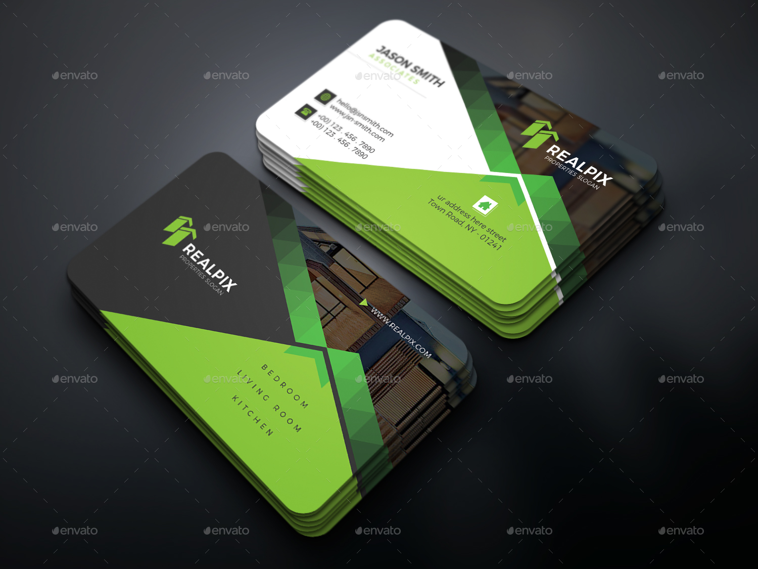 Real Estate Business Card by UXcred | GraphicRiver