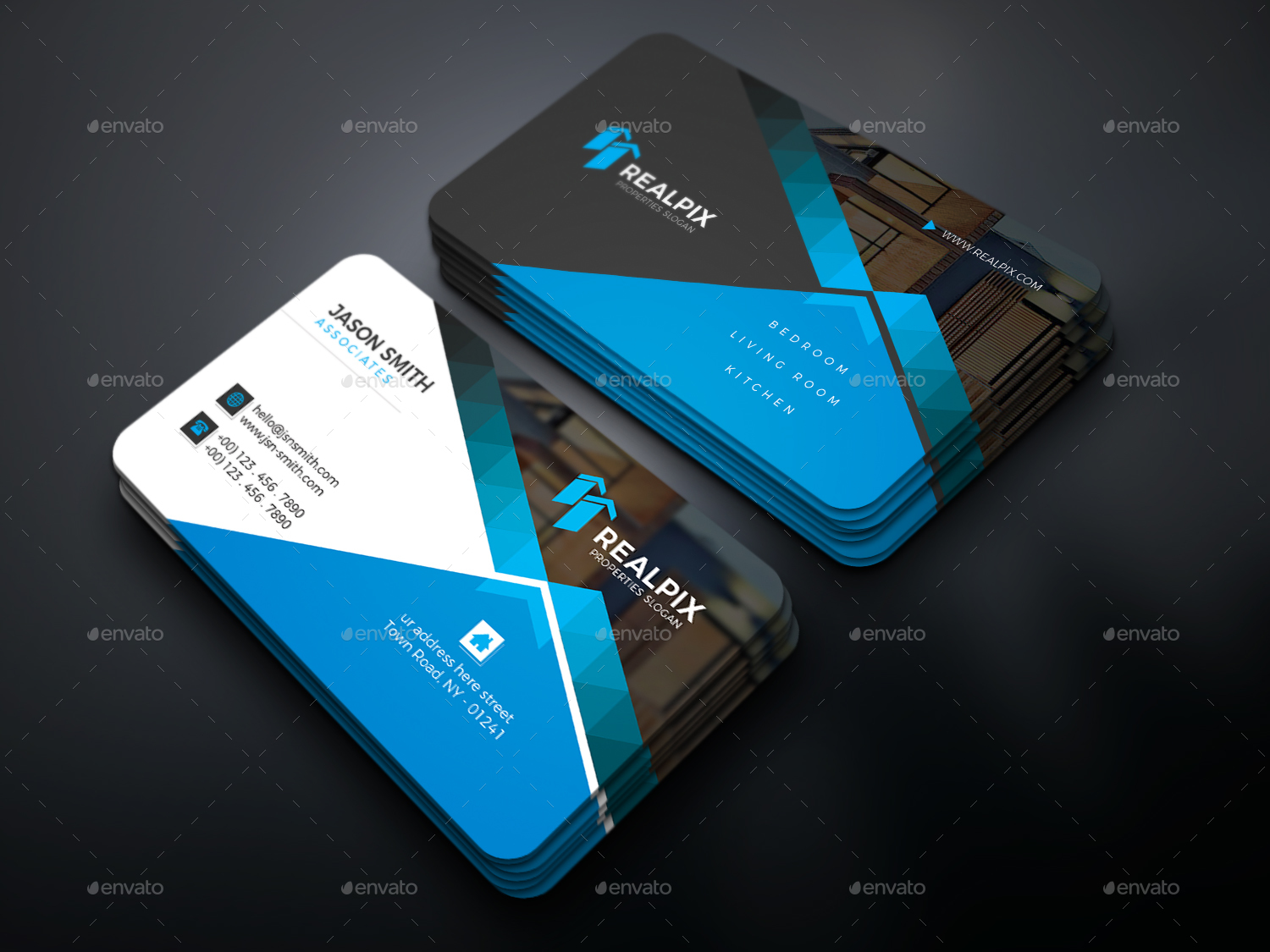 Real estate business card by uxcred graphicriver real estate business card business cards print templates preview image set01screenshotg preview image set02screenshotg magicingreecefo Images