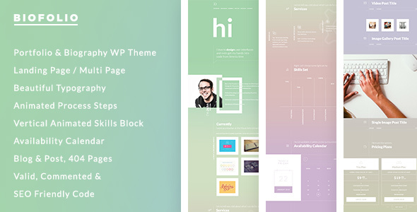 BioFolio - Biography, Resume & Portfolio WordPress Theme - Personal Blog / Magazine