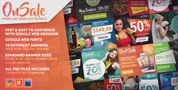 OnSale - HTML5 Ad Template Bundle - CodeCanyon Item for Sale