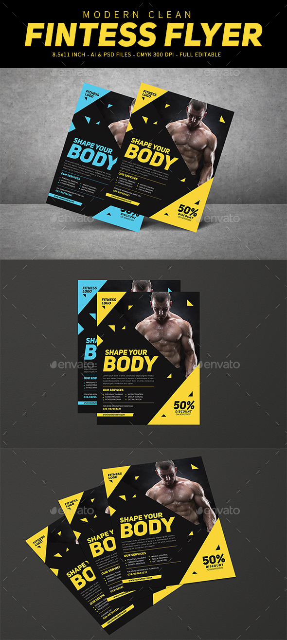 Modern Fitness Flyer - Sports Events