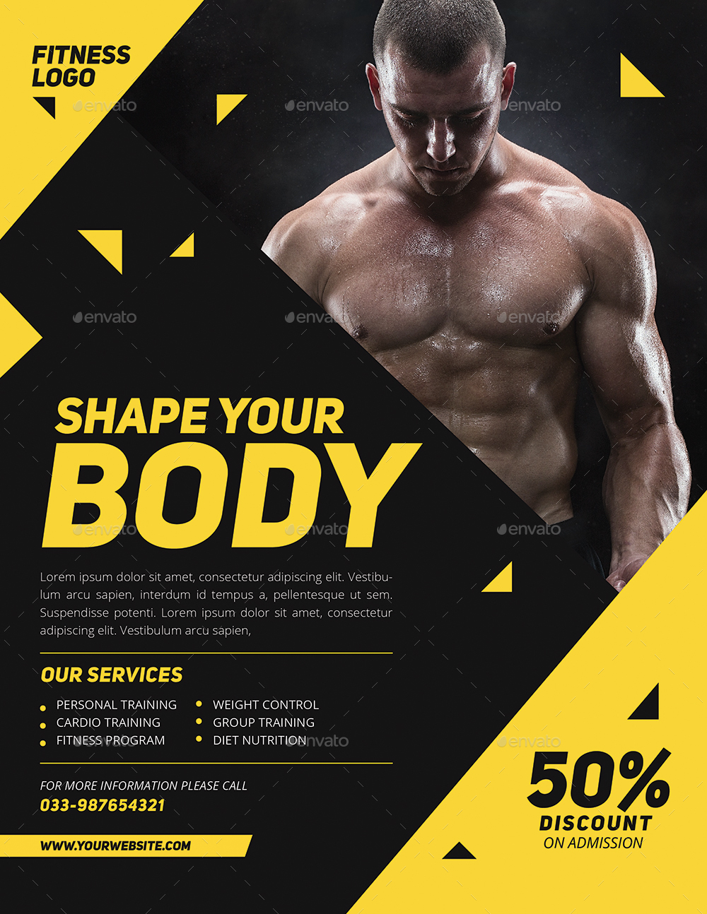 Modern Fitness Flyer By Guuver Graphicriver