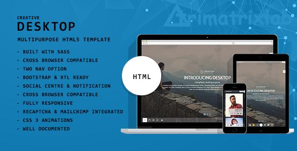 Desktop   Creative Multipurpose HTML5 Template