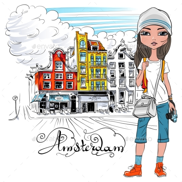 Fashion Girl in Amsterdam - People Characters