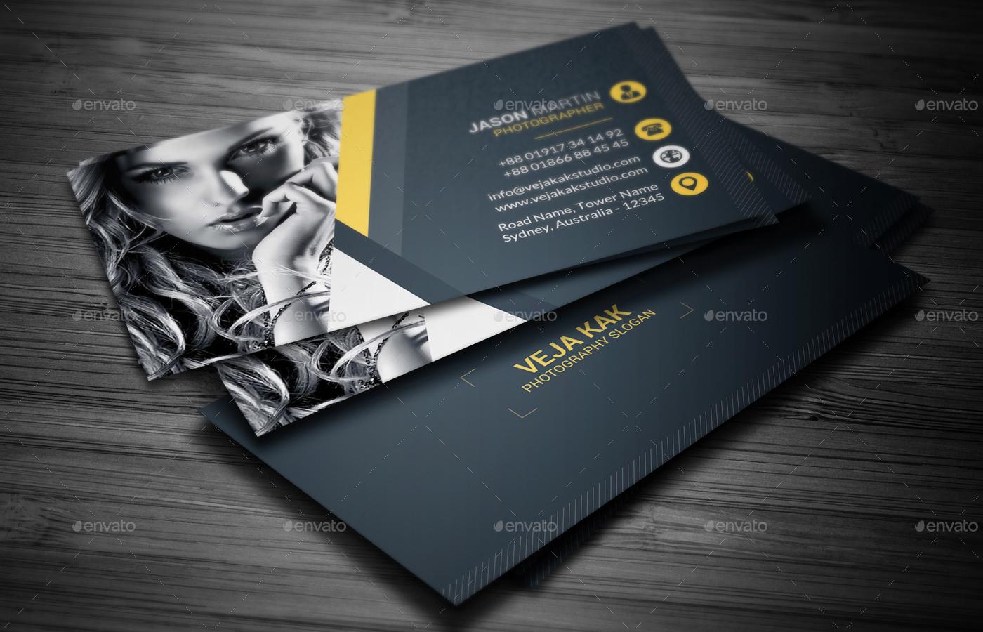 Photography Business Card by vejakakstudio | GraphicRiver