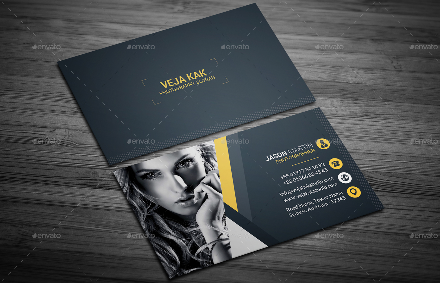 Photography business card business card design for Portrait business cards