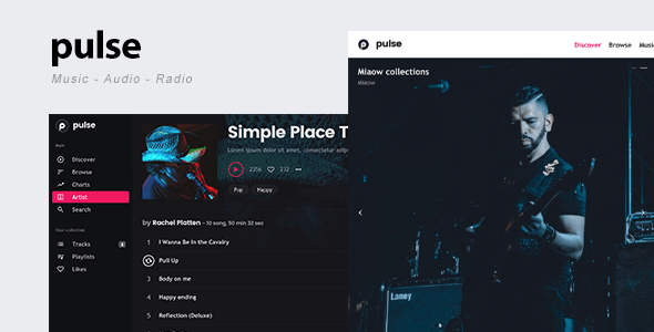 pulse – Music, Audio, Radio WordPress Theme
