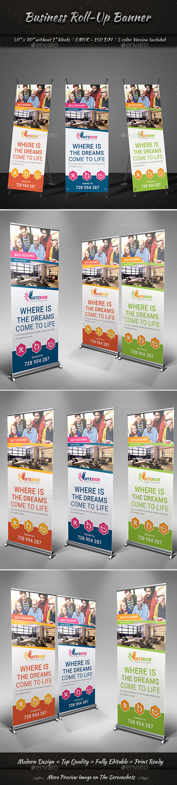 Roll-Up Banner | Volume 2 - Signage Print Templates