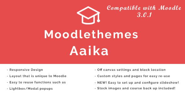 Aaika – Responsive Moodle Theme