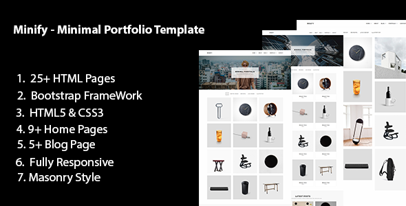 Great Minify - Minimal Portfolio HTML5 Template
