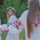 Group of Young People in National Slavic Costumes Dance - VideoHive Item for Sale