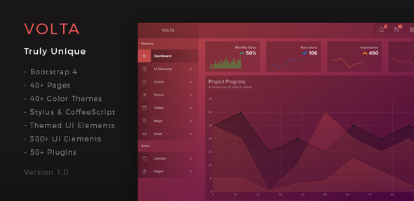Volta – Futuristic Web Application and Admin Dashboard