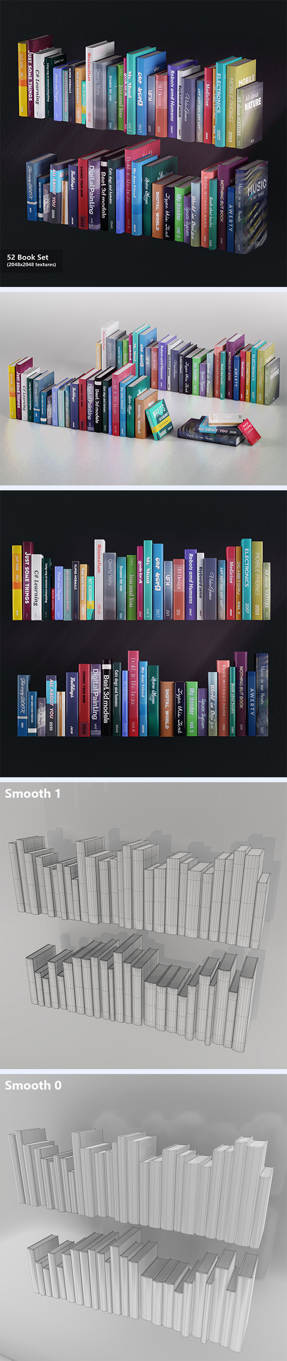 52 Books Set - 3DOcean Item for Sale