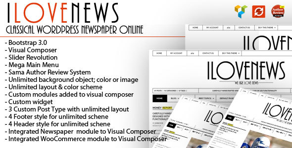 IloveNews – Classic and clean Newspaper Theme