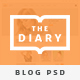 The Diary-Multivariant Blog PSD Template - ThemeForest Item for Sale
