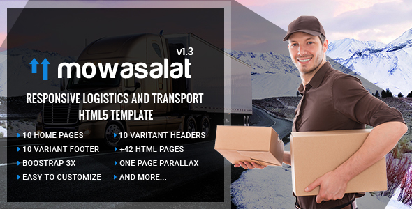 Mowasalat | Responsive Logistics and Transport HTML5 template - Business Corporate