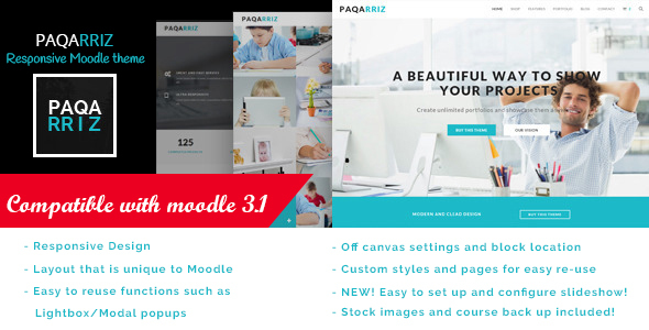 Paqarriz – Education Moodle Theme