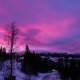 Wonderful Pink Clouds at Sunset Time Over the Winter Mountain Landscape. Sweden - VideoHive Item for Sale