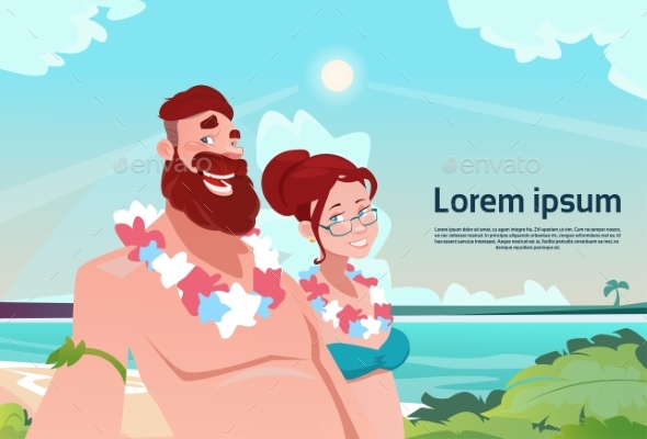 Couple on Summer Vacation Holiday Tropical Ocean - Travel Conceptual