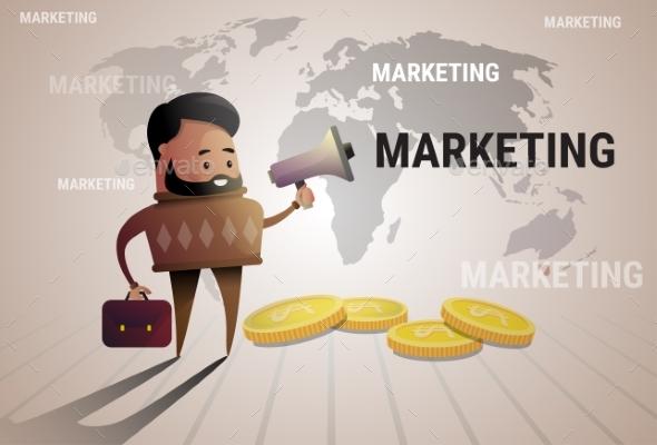 Businessman Holds Megaphone - Concepts Business